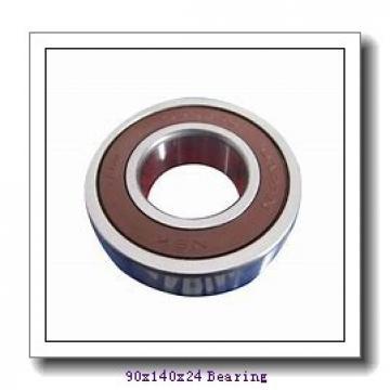 90 mm x 140 mm x 24 mm  NSK QJ1018 angular contact ball bearings