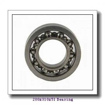 200 mm x 310 mm x 51 mm  ISO 7040 B angular contact ball bearings